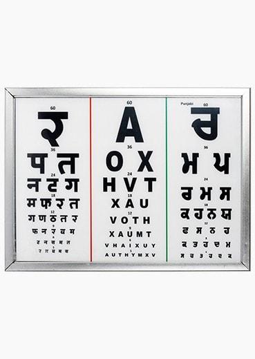 LED Chart with 3 Language